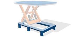 База для перемещения стола погрузчиком